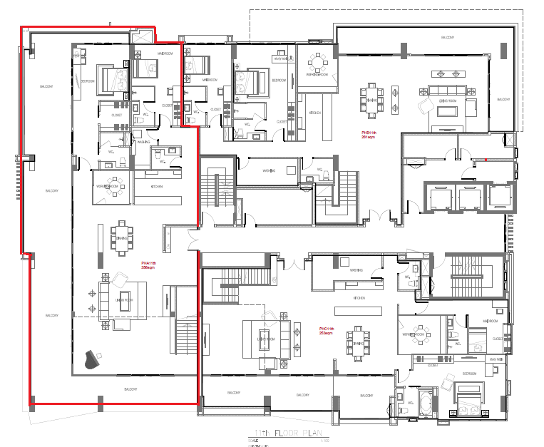 masterplan Penthouse A(551sqm) 11th floor