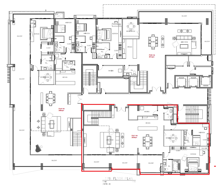 Masterplan Penthouse C(435sqm) 11th floor