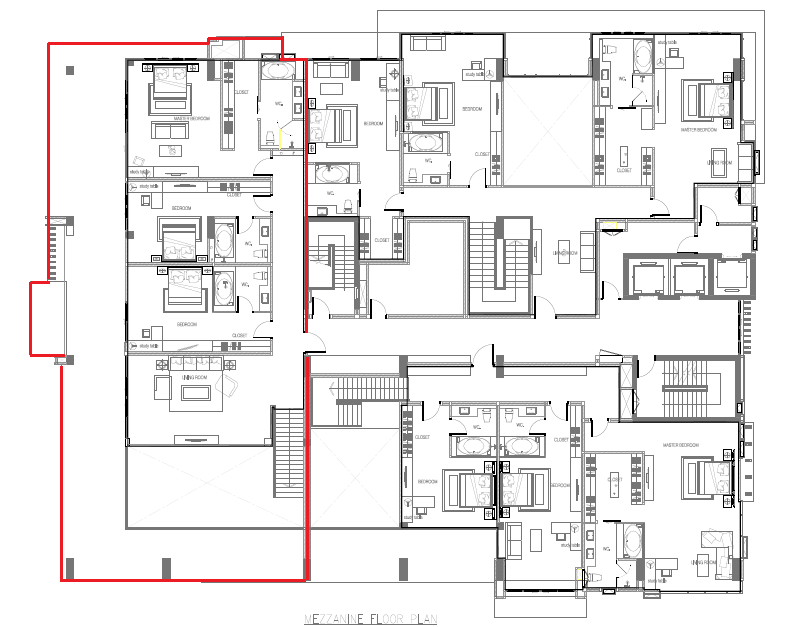 Masterplan penthouse A.551sqm (12th floor)