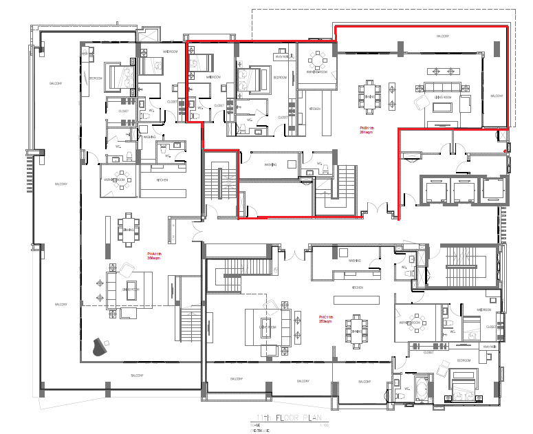 masterplan penthouse B. 465sqm(11th floor)