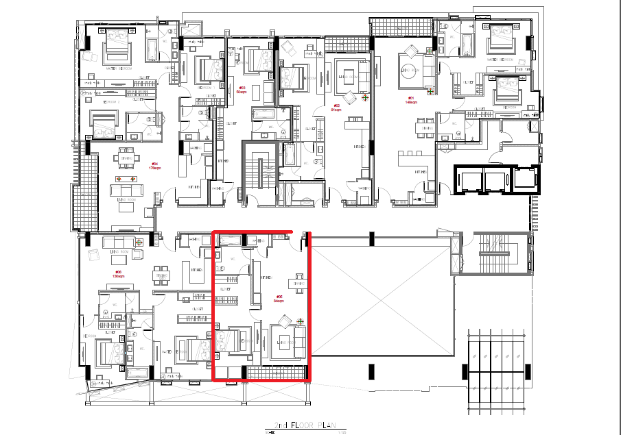 materplan  1bed (84sqm)